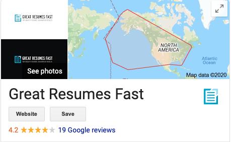 Great Resumes Fast Google reviews