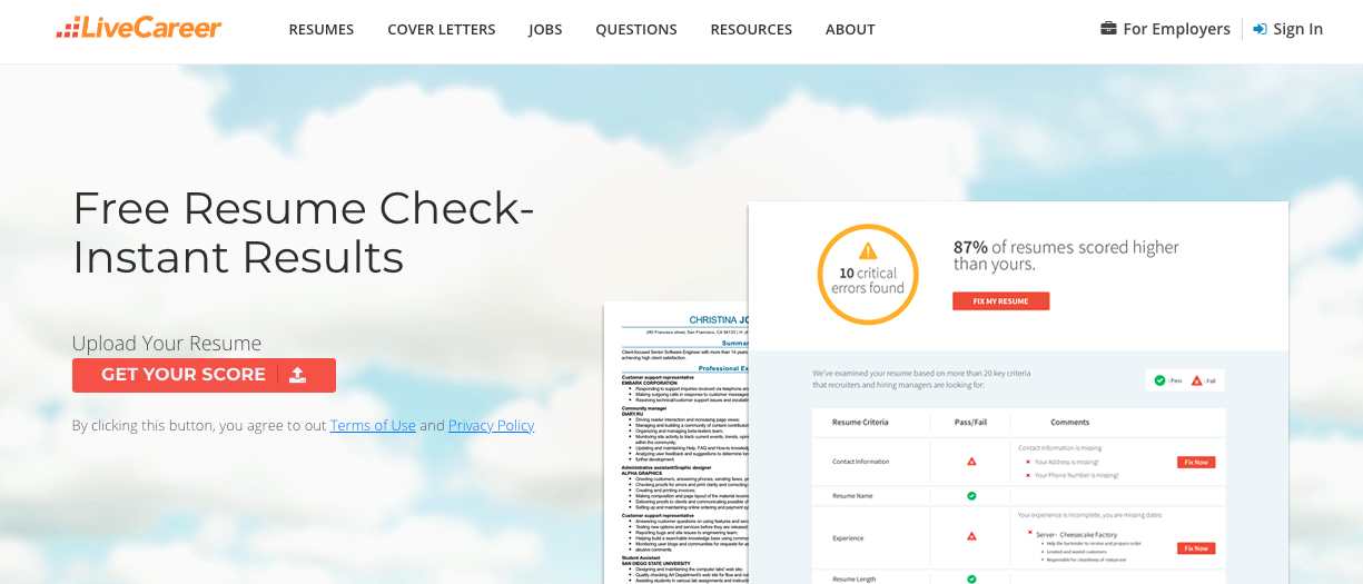10 Best Free Resume Review Sites (Pros & Cons)