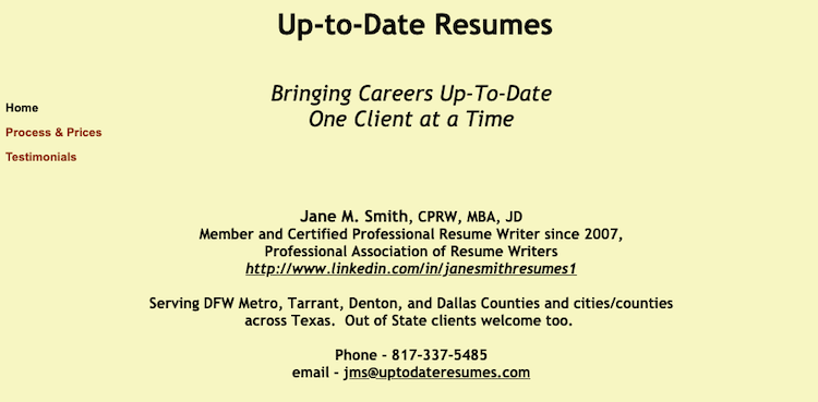 Up-To-Date Resumes - Best Fort Worth Resume Service