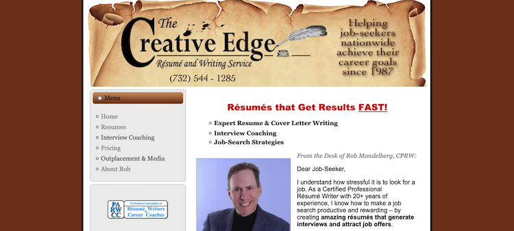 Creative Edge Resume & Writing Service - Best New Jersey Resume Service