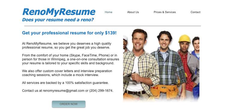 RenoMyResume - Best Winnipeg Resume Services