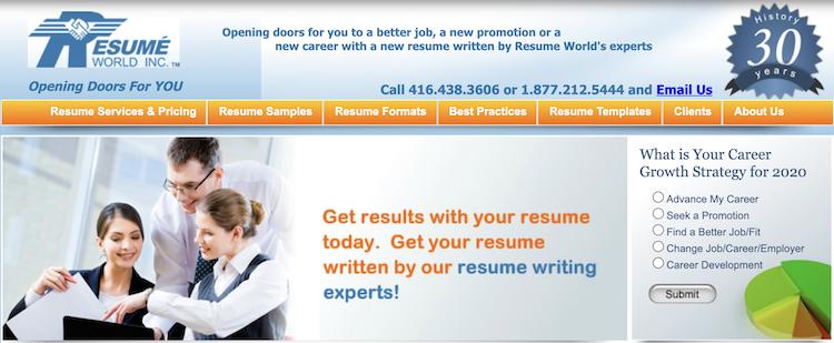 Resume World - Executive Resume Service Canada