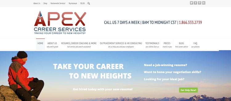 APEX Career Services - Best Fast Turnaround Resume Service