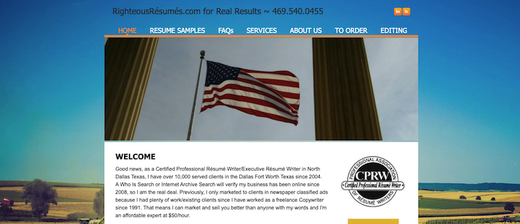Righteous Resumes - Best Dallas Resume Service