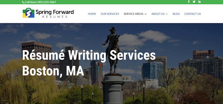 Spring Forward Resumes - Best Boston Resume Service
