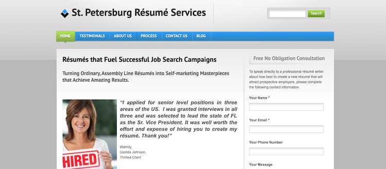St. Petersburg Resume Services - Best Tampa Resume Services
