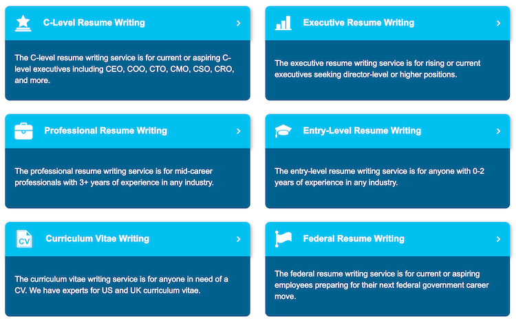 Find My Profession Resume Categories