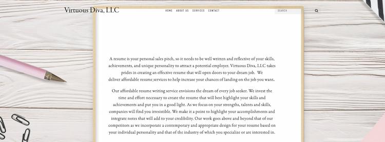 Virtuous Diva - Best San Diego Resume Service