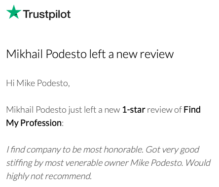Find My Profession Fights Fake Reviews from Competitors