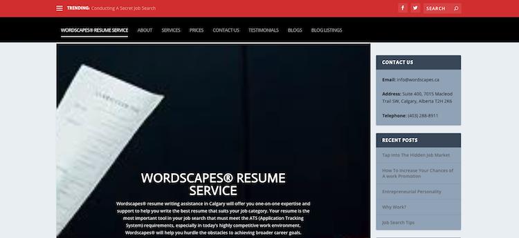 Wordscapes Resume Service - Best Calgary Resume Service