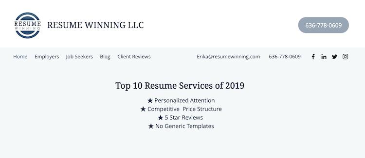 Resume Winning - Best Business Owner Resume Service