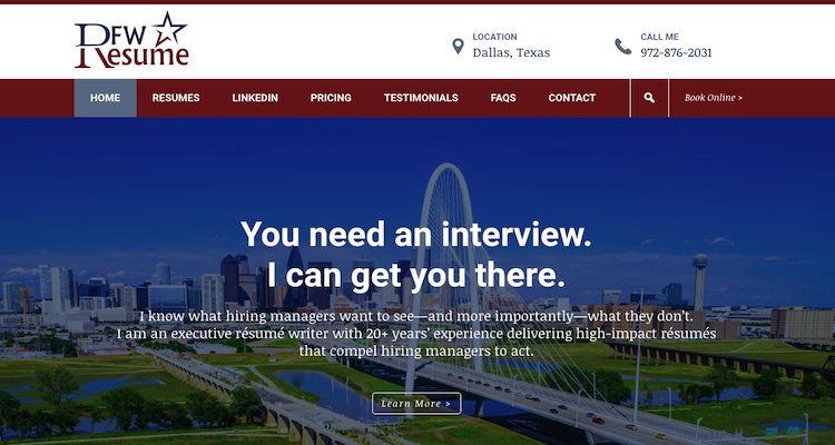 DFW Resume - Best Marketing Resume Service