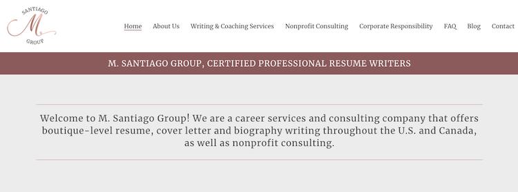 M. Santiago Group - Best Indianapolis Resume Service