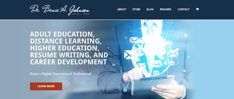 Dr. Bruce A. Johnson - Best St. Louis Resume Services