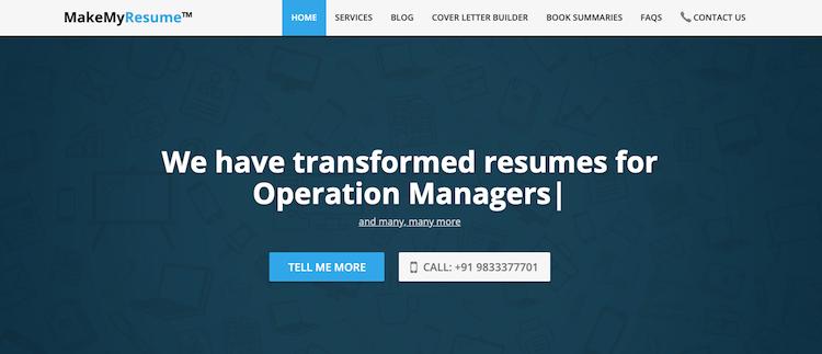 Make My Resume - Best India Resume Service