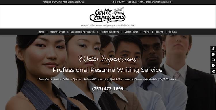 Write Impressions - Best Virginia Beach Resume Services