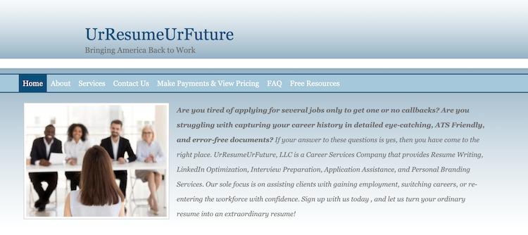 UrResumeUrFuture - Best Atlanta Resume Service
