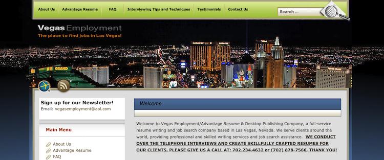 Advantage Resume - Best Las Vegas Resume Service