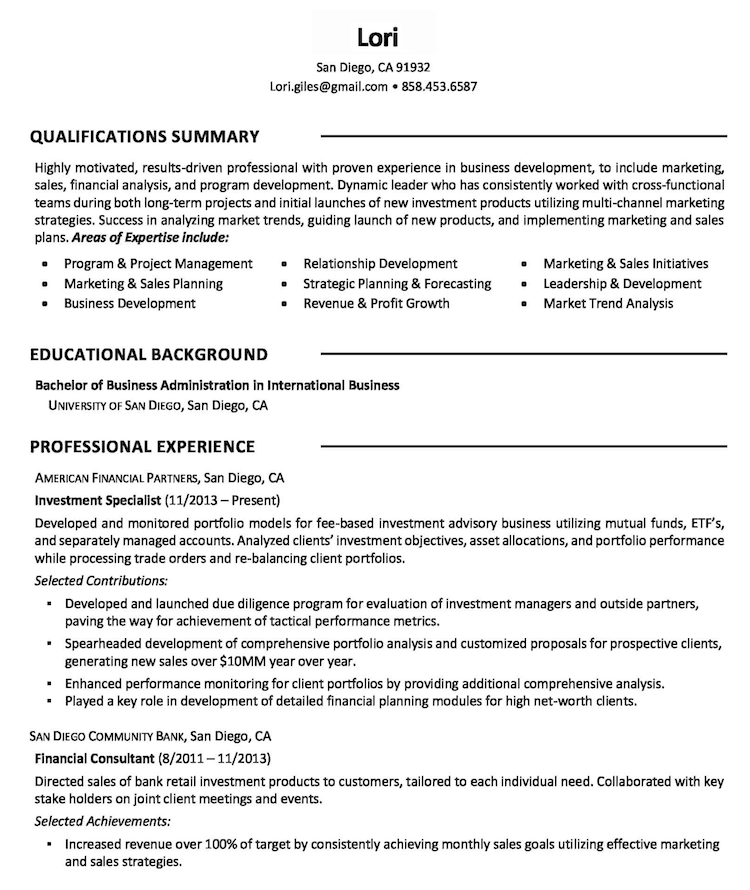 Zipjob - Resume Sample