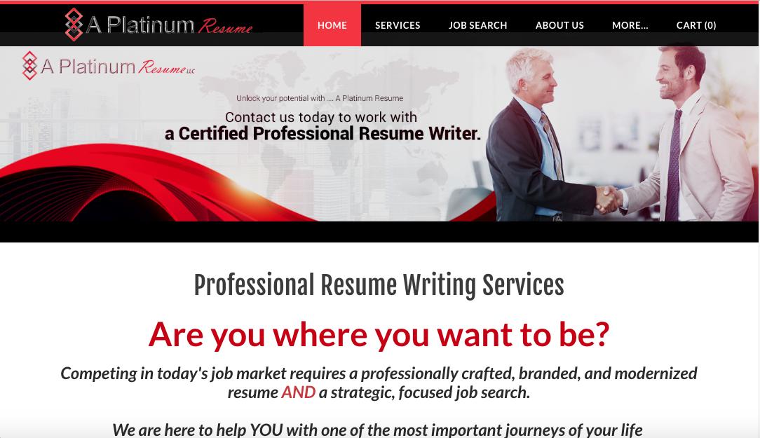 A Platinum Resume - Military to Civilian Resume Service