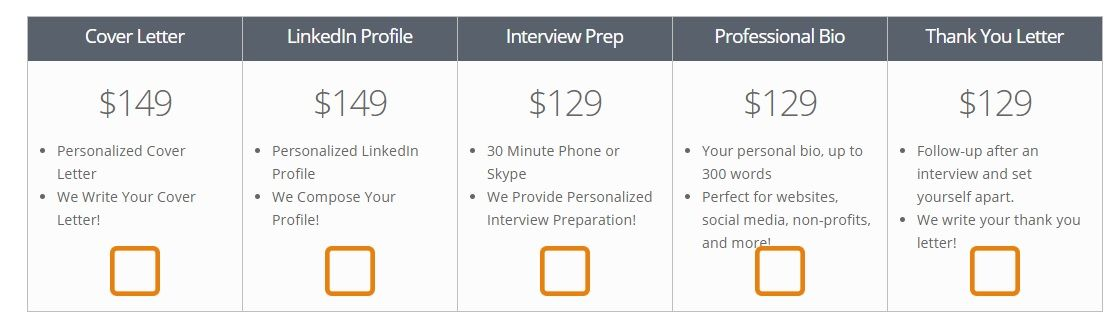ResumeSpice Additional Pricing & Packages