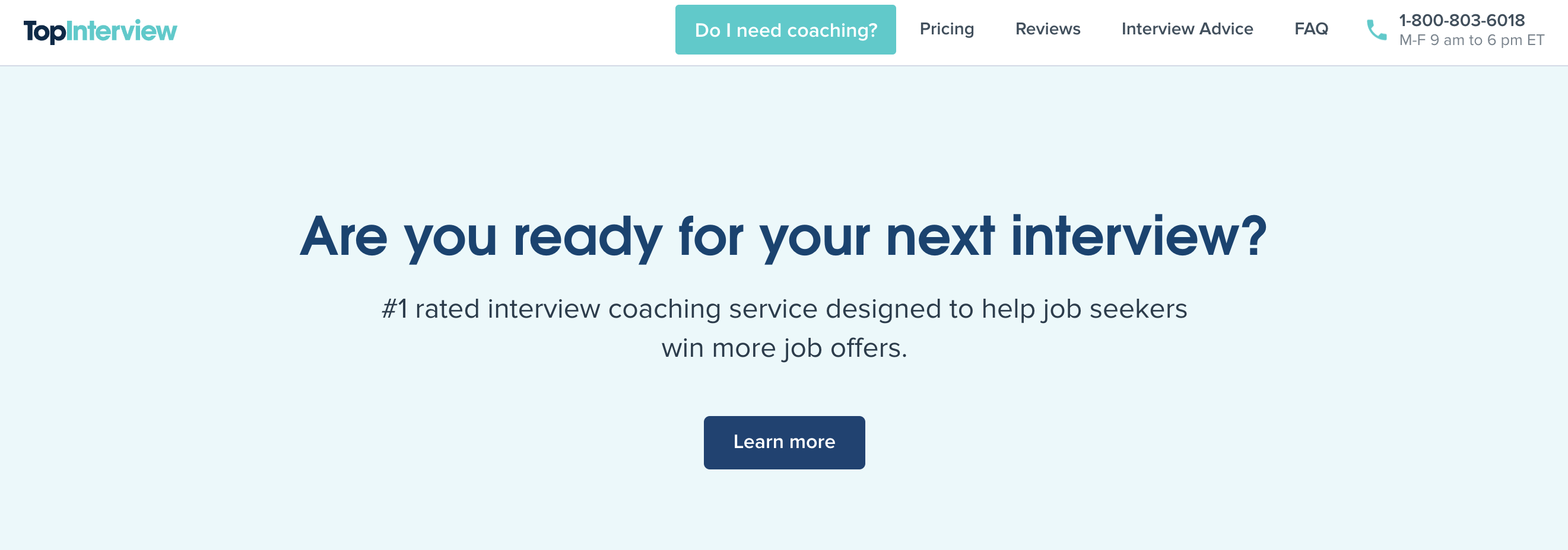 TopInterview Interview Coaching Services