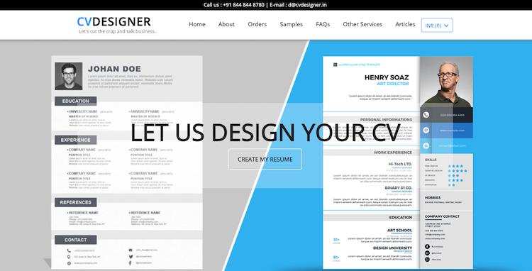 CV Designer - Best India Resume Service