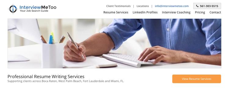 InterviewMeToo - Best Miami Resume Service