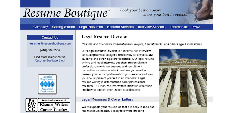 Resume Boutique - Best Legal/Attorney Resume Service