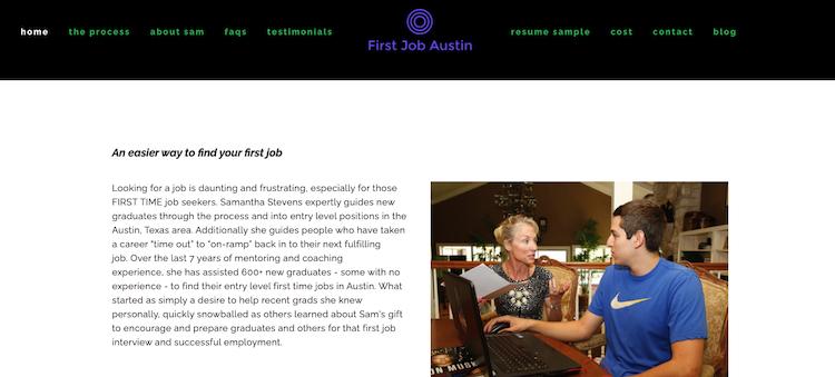 First Job Austin - Best Austin Career Coach