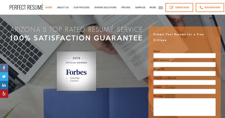 Perfect Resume - Best Phoenix Resume Service