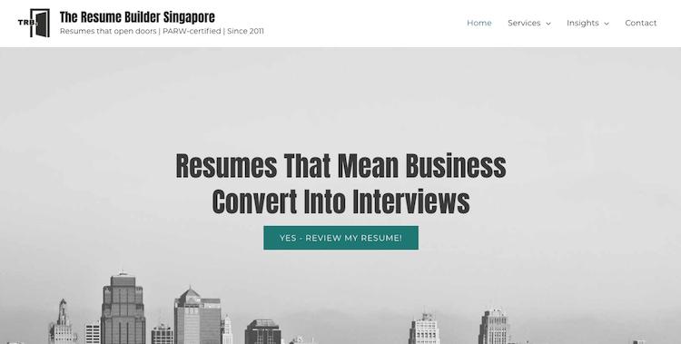 The Resume Builder Singapore - Best Singapore Resume Services