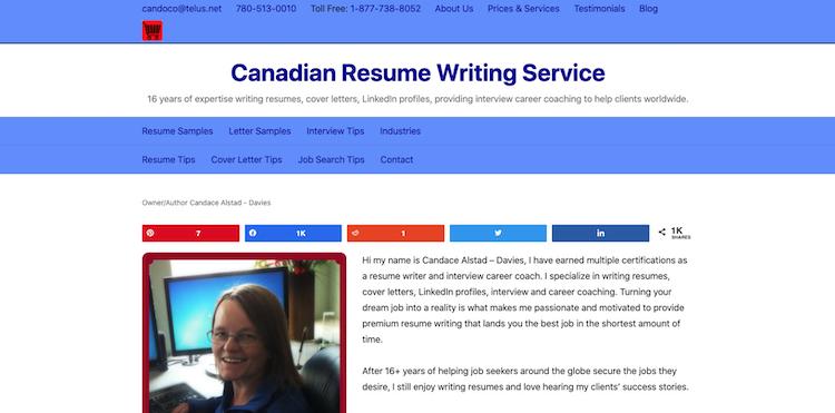 Canadian Resume Writing Service - Best Edmonton Resume Service
