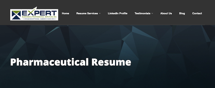 Expert Business & Professional Services - Best Pharmacist Resume Service