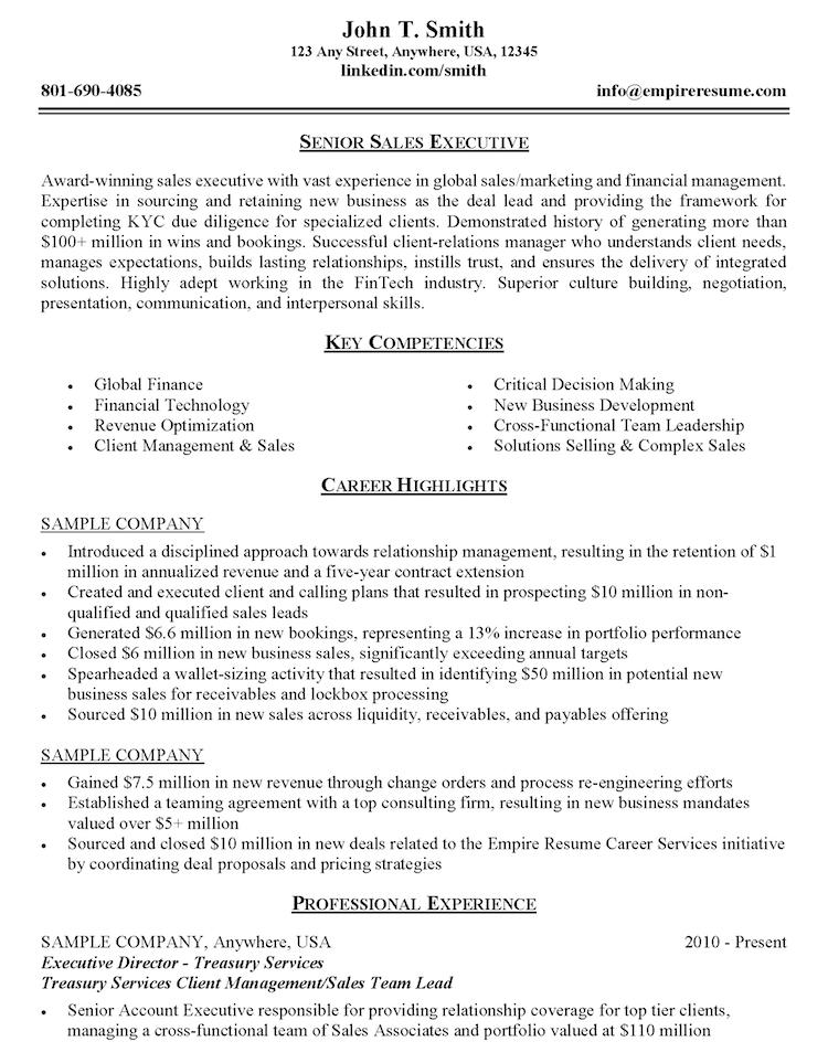 Empire Resume - Resume Sample