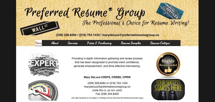 Preferred Resume Group - Best Finance Resume Service