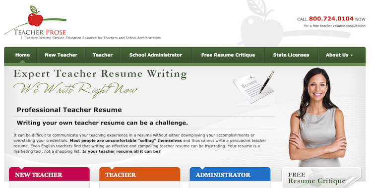 Teacher Prose - Best Teacher Resume Service
