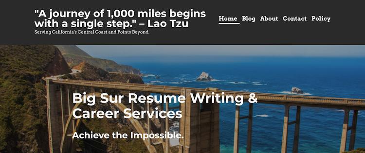 Big Sur Resume Writing - Best San Jose Resume Service