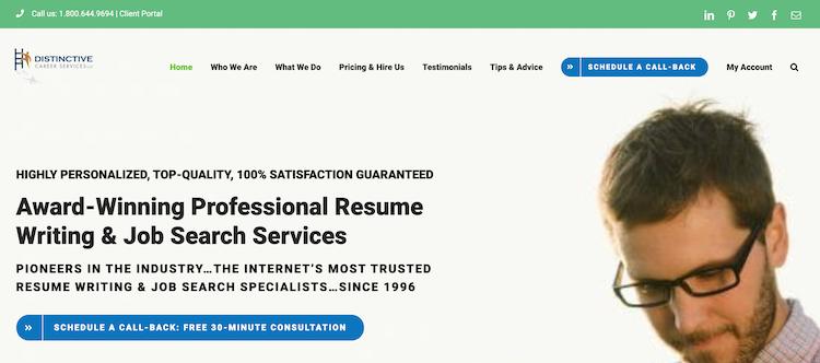 Distinctive Career - Best C-Level Resume Service