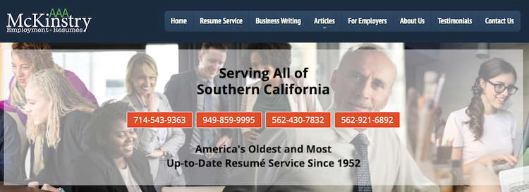 AAA McKinstry Resume Service - Best Los Angeles Resume Service
