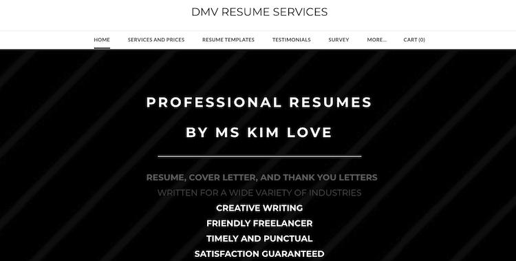 DMV Resume Services