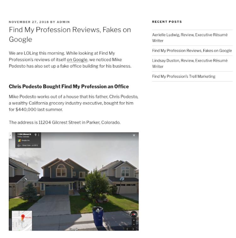 Donna Svei Fake Website 2