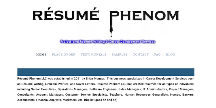 Resume Phenom - Best Orlando Resume Service