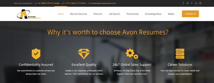 Avon Resumes - Best India Resume Service