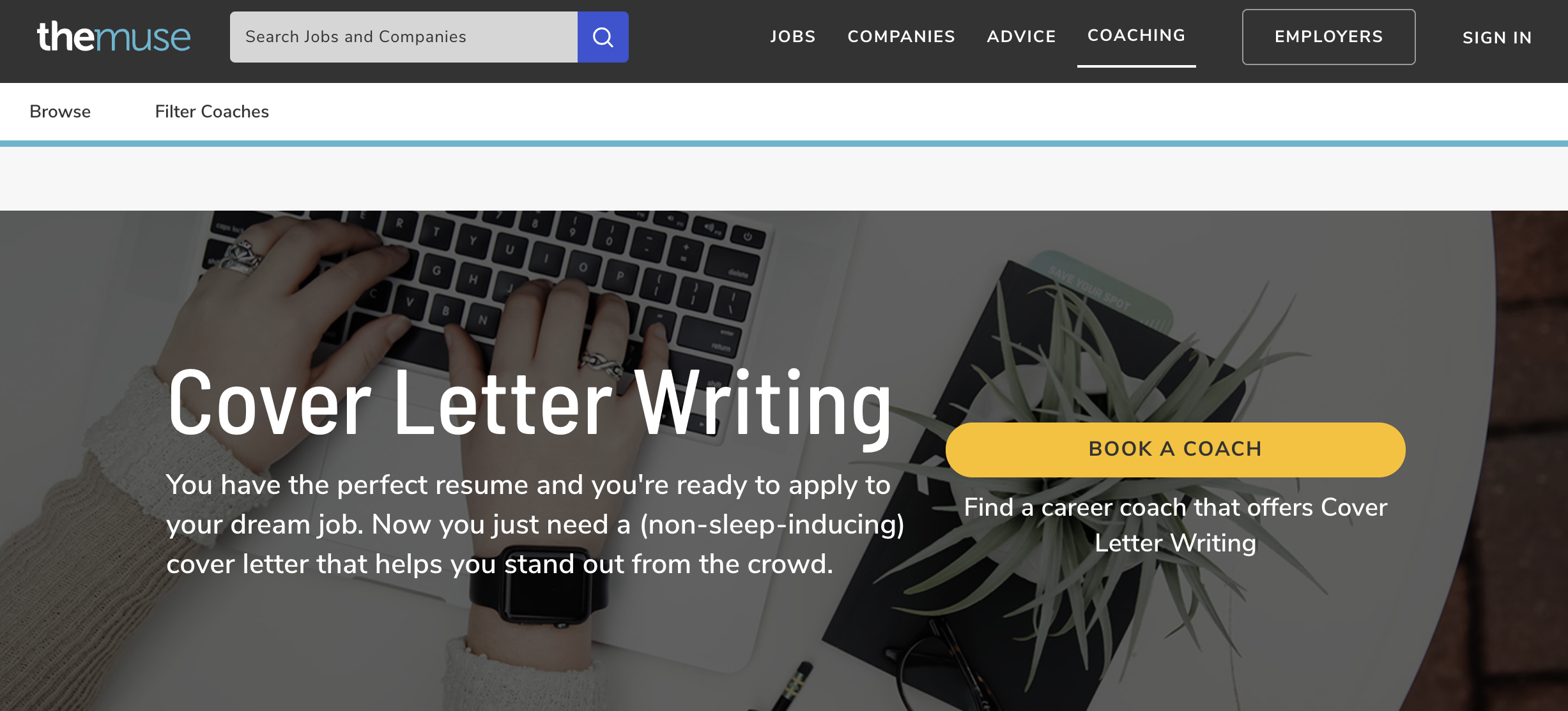 The Muse - Cover Letter Writing Service