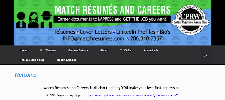Match Resumes and Careers - Best Seattle Resume Services