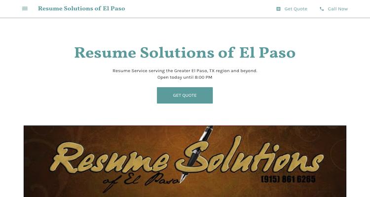 Resume Solutions - Best El Paso Resume Service