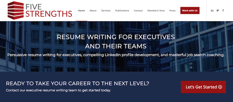 Five Strengths - Best COO Resume Service