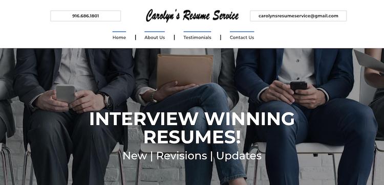 Carolyn's Resume Services - Best Sacramento Resume Service
