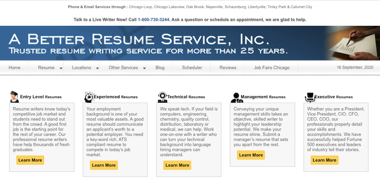 A Better Resume Service - Best Chicago Resume Service